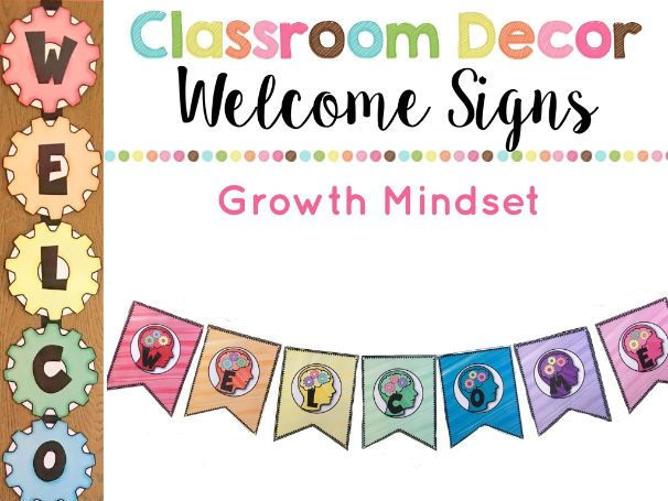 Growth Mindset Welcome Sign and Banner