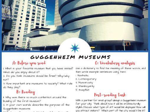 The Guggenheim Museum - English & ESL Reading, Vocabulary Review & Comprehension