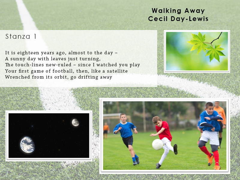 AQA Poetry Differentiated - Walking Away (Love and Relationships Unit)(KS4)