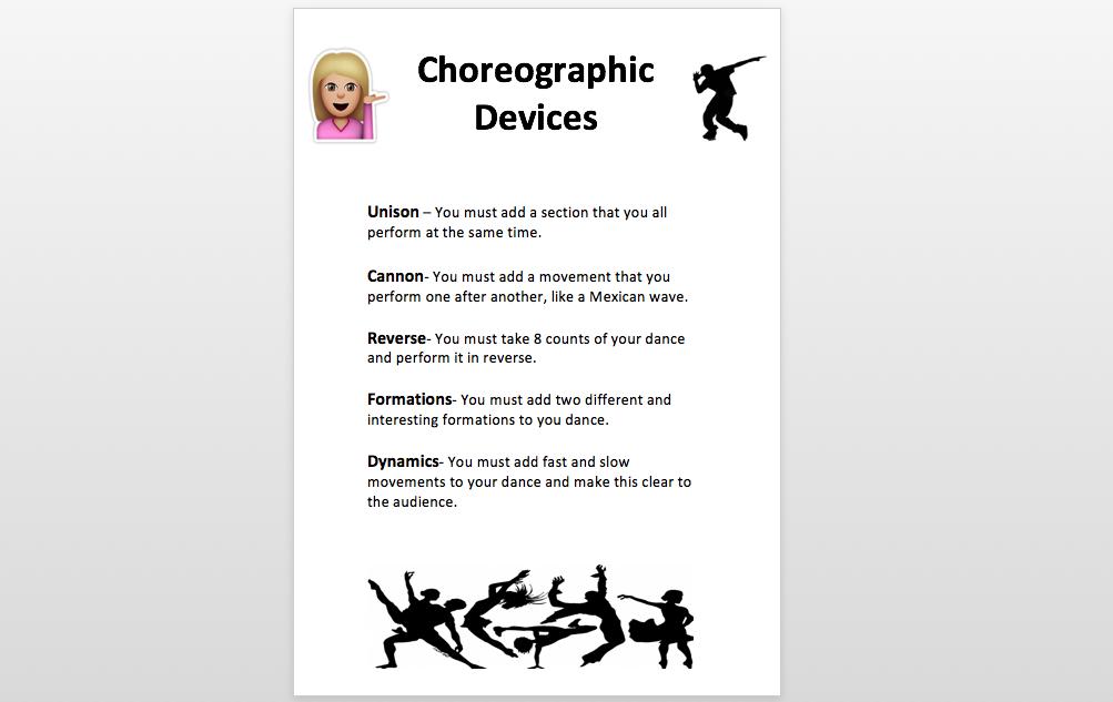 choreographic devices