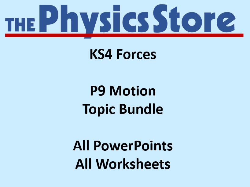 KS4 Physics AQA P9 Forces 1-4 Motion Topic Bundle (Non-editable PowerPoints)