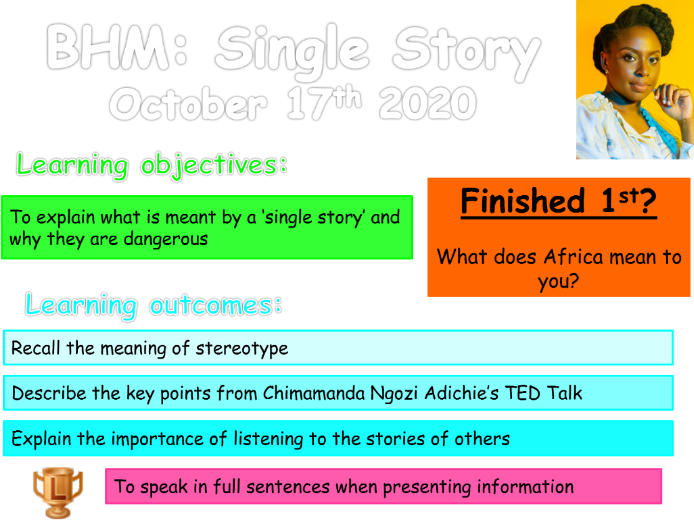 Black History Month: Single Story