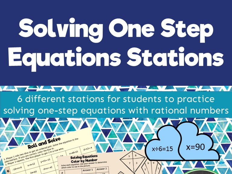 Solving One Step Equations Stations by randistowe - Teaching ...