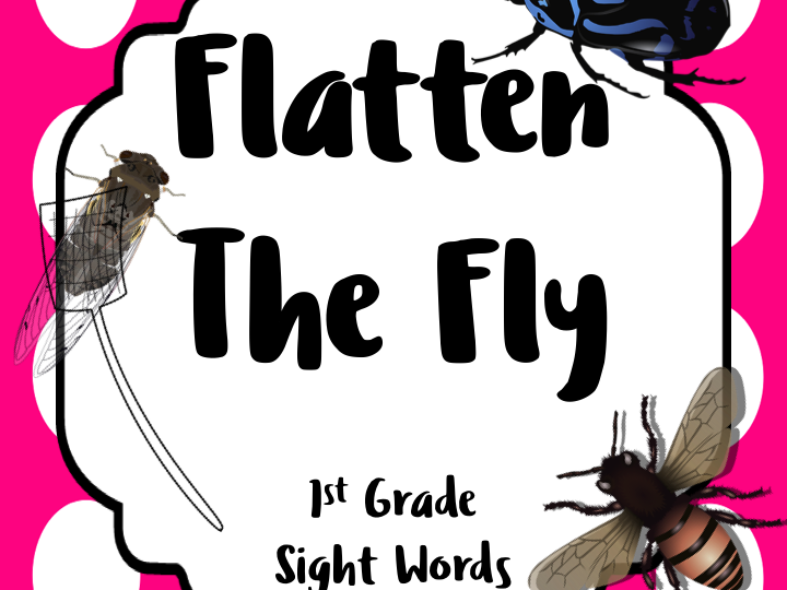 Flatten the Fly REAL FLY Images 1 Grade Sight Words: 2 COMPLETE ACTIVITIES
