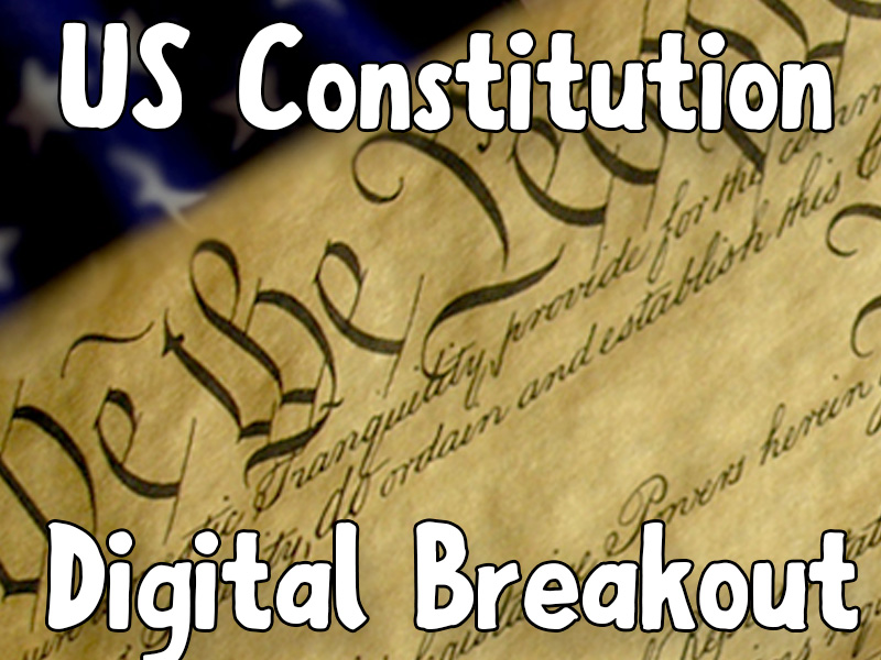 US Constitution - Digital Breakout Game