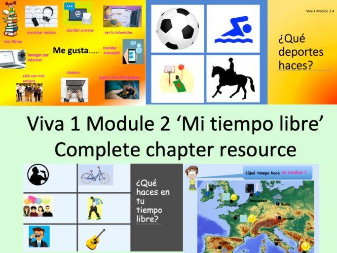 Viva 1 Module 2 'Mi tiempo libre' Complete chapter