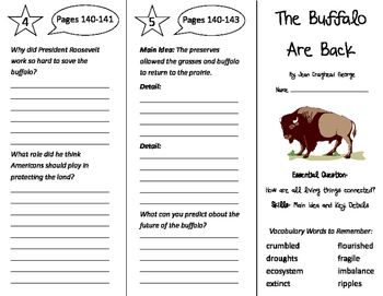 7b9fc27a2d4 The Buffalo are Back Trifold - Wonders 4th Grade Unit 2 Week 3 by ...