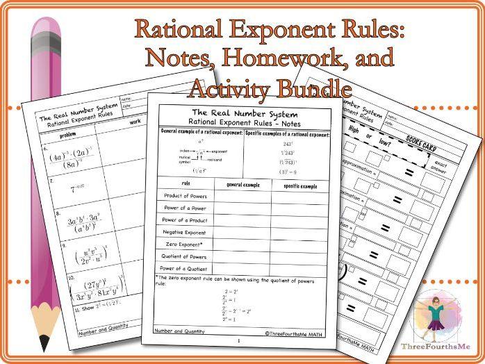 Rational Exponent Rules: Bundle