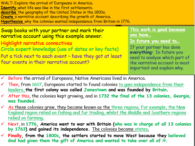 Overview of the American West - Introduction lesson  (Edexcel 9-1: The American West)