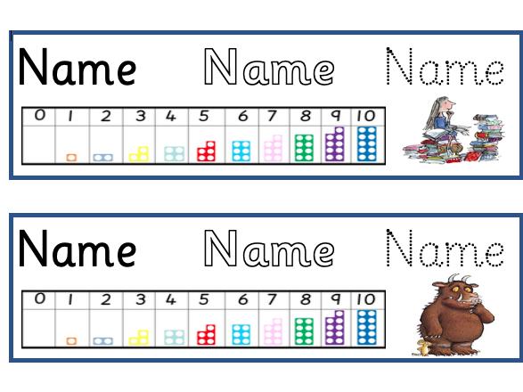 Name Table Tags
