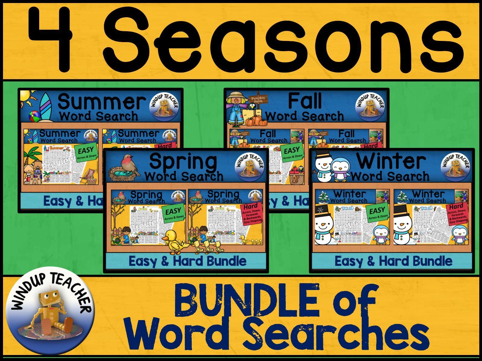 Four Seasons Word Search BUNDLE