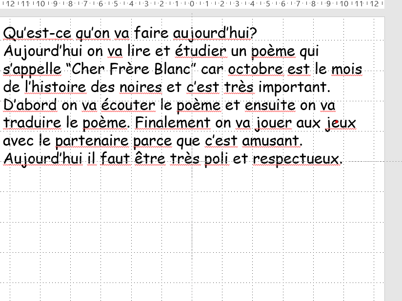 Cher Frere Blanc French Lesson