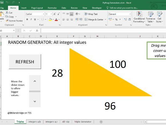 Pythagoras: Random RA Triangle Generator