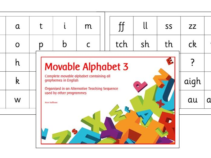 Movable Alphabet 3 - Alternative Teaching Sequence with Base Plates - Phonics for SEN