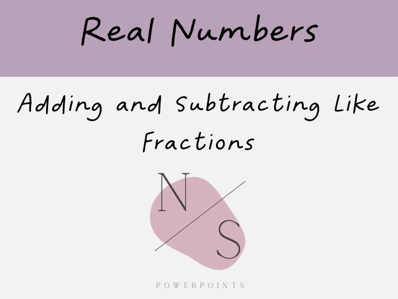 Adding and Subtracting Fractions with Same Denominators Lesson Presentation