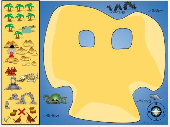 Pirate treasure maps - Create your own