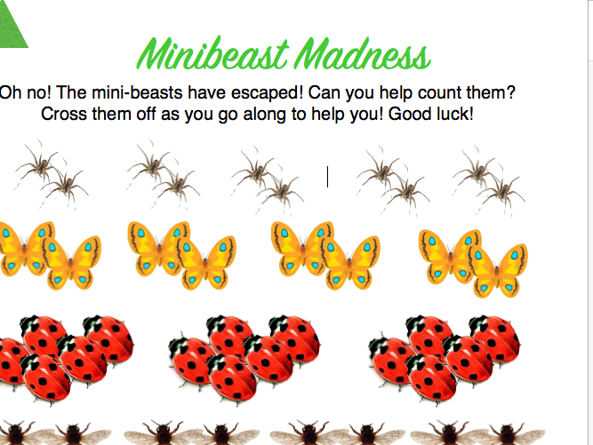 Y1 MINIBEASTS PROBLEM SOLVING BUNDLE