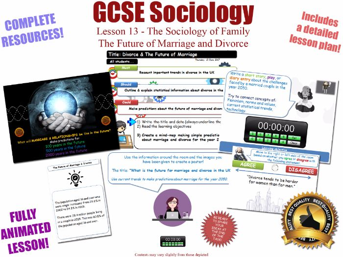 The Future of Marriage and Divorce - Sociology of Families - L13/20 [ WJEC EDUQAS GCSE Sociology ]