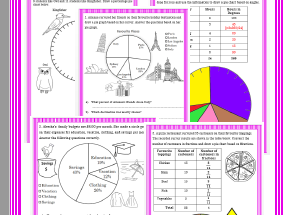 Assignment on Pie Chart - Grade 4, 5 & 6