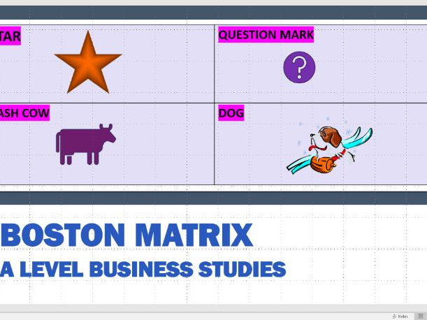 Boston Matrix Presentation