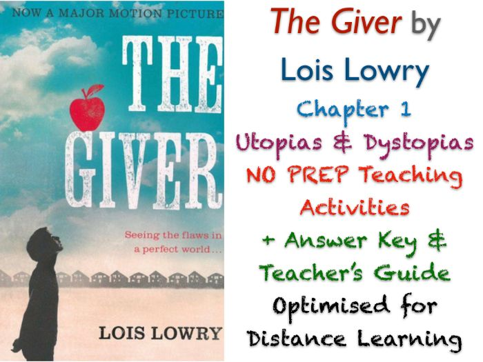 The Giver (Lois Lowry) - Chapter 1 - Utopias - NO PREP ACTIVITIES + ANSWERS