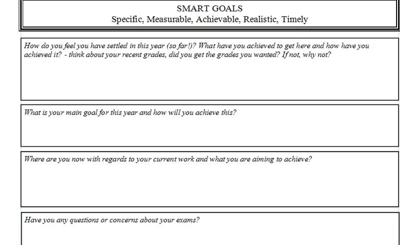 Smart Goal Worksheet By Mrnwhite Teaching Resources
