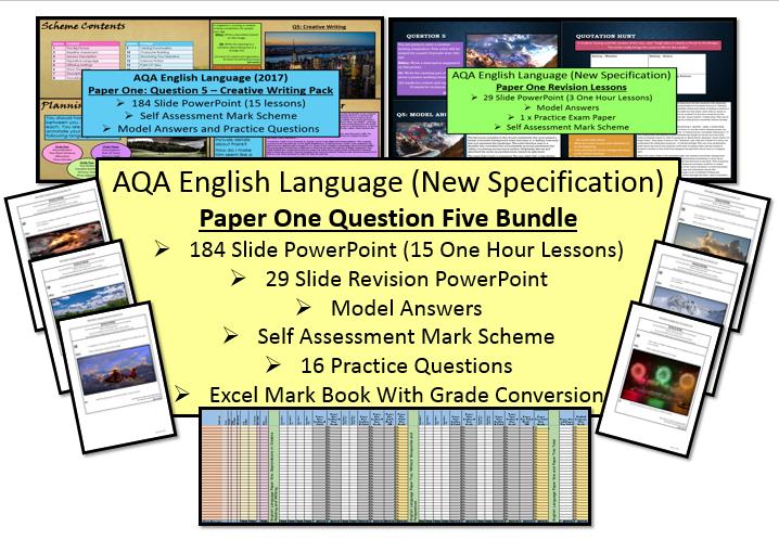 English Language Paper One Question Five (Creative Writing) Bundle (AQA, 9-1 GCSE)
