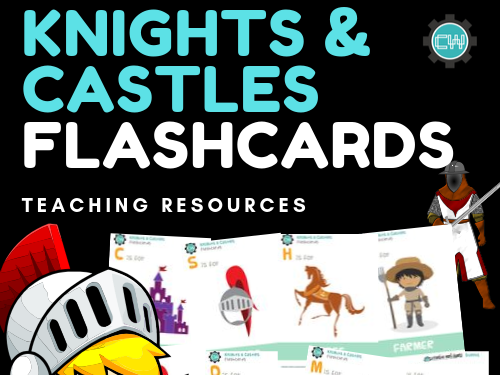 Theme-Based Learning: KNIGHTS & CASTLES FLASHCARDS