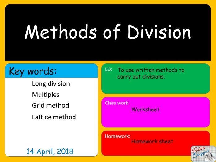Methods of division - KS3