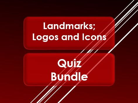 Tutor Time: Landmarks; Logos and Icons: Quiz Bundle
