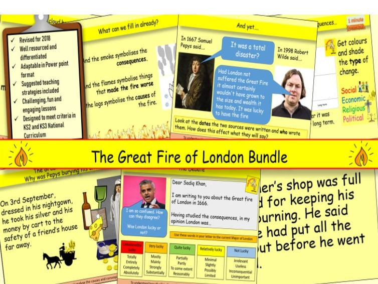 The Great Fire of London in 1666 Bundle