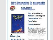 'Currently Reading' posters for your English classroom display