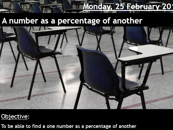 One number as a percentage of another