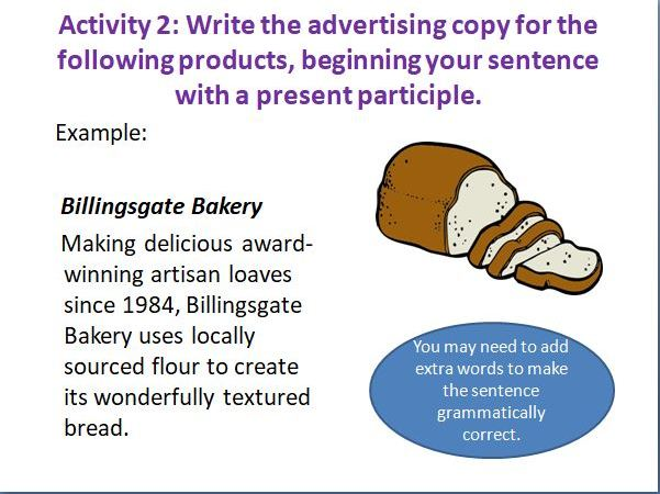 Varying Sentences with the Present Participle