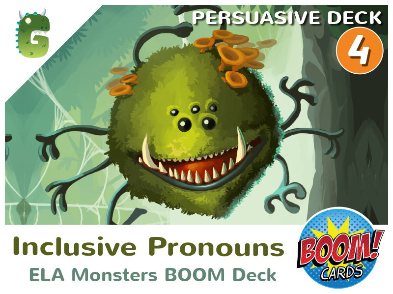 Inclusive Pronouns Boom Cards (Persuasive Language - Deck 4)