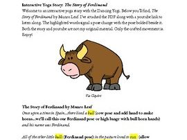 Interactive Yoga Story: The Story of Ferdinand