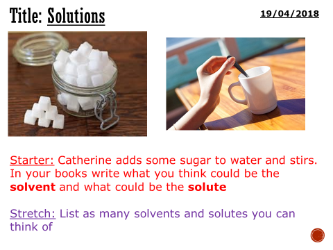 Solutions - complete lesson (KS3)