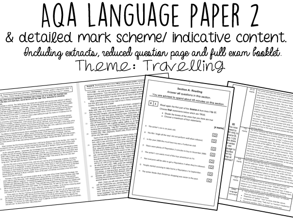 AQA English Language Paper 2 WITH INDICATIVE CONTENT: Travelling