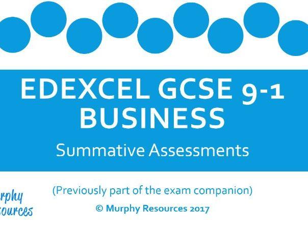 GCSE Business Summative Assessments for Edexcel (Sample)