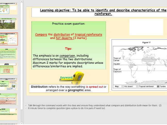 L1 - Tropical Rainforest Characteristics (Living World) - [AQA GCSE Geog New Spec]