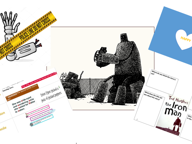 The Iron Man by Ted Hughes (literacy planning,differentiated worksheets+resources) Year 3/4 - Week 1