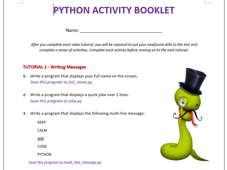 Python Coding - Full Term of Work