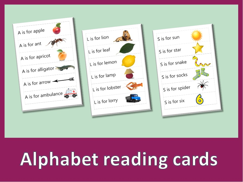 ABC reading cards