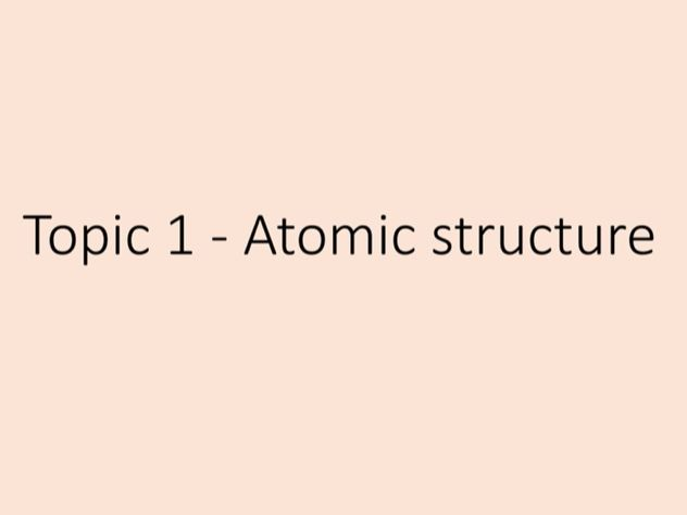 Chemistry - tuition lesson 1, electronic structure power point