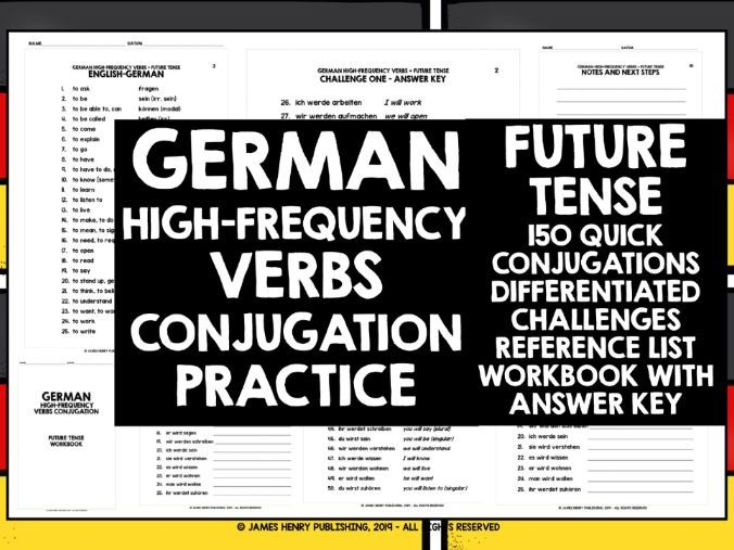 GERMAN HIGH-FREQUENCY VERBS CONJUGATION 4