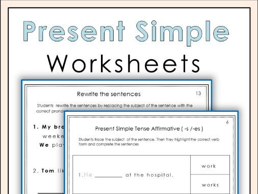 Present Simple Tense Worksheets
