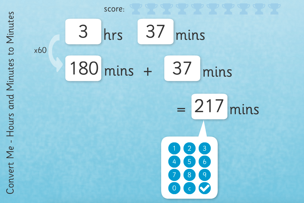 Time Conversion: Hours to Minutes - Interactive Activity - KS2 Measurement
