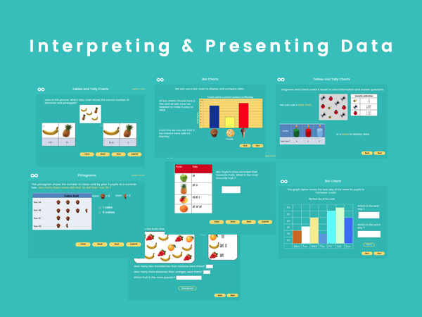 Interpreting & Presenting Data - Year 3, Year 4