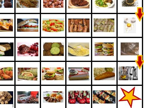 NEW GCSE Food Technology: Food Tech - Preparation skills 4 - board game, cue cards, list of terms