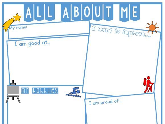 Transition Activity - All about me - Editable